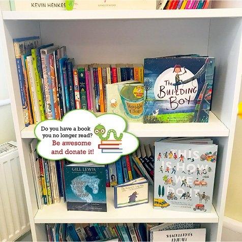 'Donate a Book' Bubbles