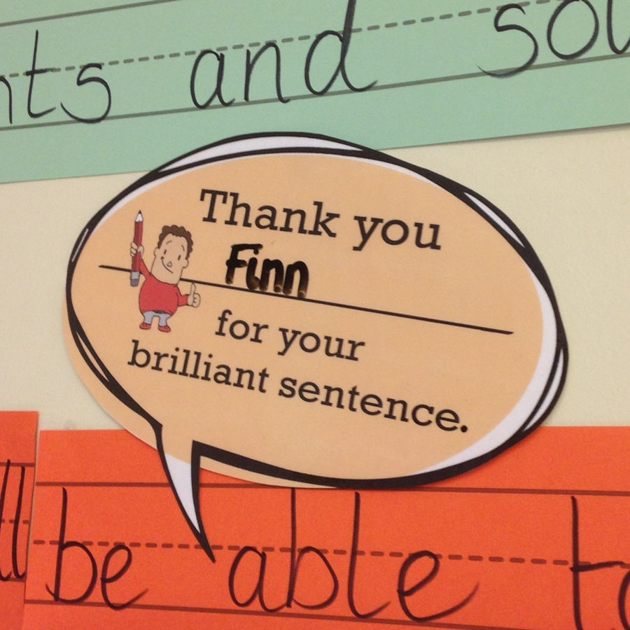 'Thank you' Speech Bubbles – Sentence Stacking