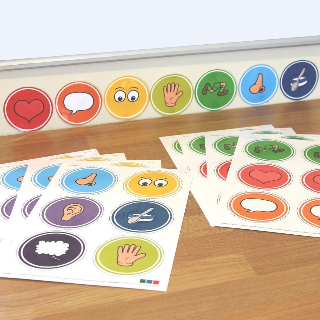 Classroom set of Small FANTASTIC symbols
